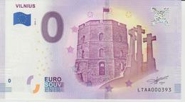 Billet Touristique 0 Euro Souvenir Lettonie - Vilnius 2018-1 N°LTAA000393 - Private Proofs / Unofficial