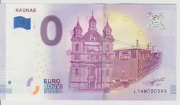 Billet Touristique 0 Euro Souvenir Lettonie - Kaunas 2018-1 N°LTAB000393 - Private Proofs / Unofficial