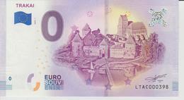 Billet Touristique 0 Euro Souvenir Lettonie - Trakai 2018-1 N°LTAC000398 - Private Proofs / Unofficial