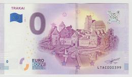 Billet Touristique 0 Euro Souvenir Lettonie - Trakai 2018-1 N°LTAC000399 - Private Proofs / Unofficial