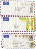 Kenya 1970's 3 Airmail Covers Nairobi - Nilestar Tours To London, UK - Kenya (1963-...)