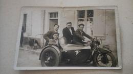 Cpa Moto Side Car Cachet Stalag XA Ww2 - Motorräder