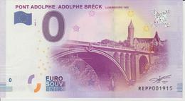 Billet Touristique 0 Euro Souvenir Luxembourg - Pont Adolphe Adolphe Bréck 2017-1 N°REPP001915 - Private Proofs / Unofficial