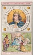 "Chromo Chocolaterie D'aiguebelle ""les Rois De France""  Louis IX. 1226-1270 - Cioccolato"