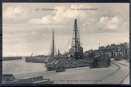 CPA 50 - CHERBOURG - ( CH37 )   Gare Maritime - Construction De L'appontement- Quai Ancien Arsenal - Cherbourg