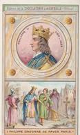 "Chromo Chocolaterie D'aiguebelle ""les Rois De France"" Philippe II. 1180-1223 - Chocolate"
