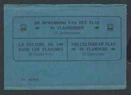 +++ Série De 12 CPA - Lot 12 Cartes Vues - Culture Du Lin Dans Les Flandres - 1re Série - Agriculture Attelage   // - Cultures