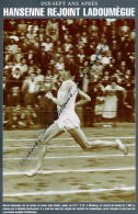 ATHLETISME : PHOTO (1948), MARCEL HANSENNE, ICI AU STADE JEAN BOUIN, EGALE LE RECORD MONDE DU 1000 M A GOTEBORG - Athlétisme