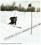 SKI : PHOTO (1948), JEUX OLYMPIQUES, SAINT-MORITZ, HENRI OREILLER, MEDAILLE D'OR EN DESCENTE, COMBINE, BRONZE EN SLALOM - Sports D'hiver