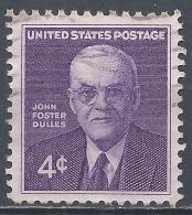 United States 1960. Scott #1172 (U) John Foster Dulles (1888-1959) Scretary Of State * - Etats-Unis