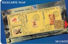 TELECARTE  NEUVE 50 UNITES PHILEXFRANCE 99 - TAAF - French Southern And Antarctic Lands