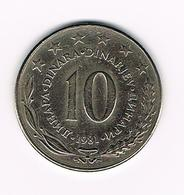 &-   JOEGOSLAVIE  10  DINARA  1981 - Yougoslavie