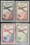 Reunion 1938      Sc#C2-5  Airmails Set  MLH   2016 Scott Value $5 - Reunion Island (1852-1975)