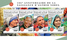 Togo. 2018 185th Anniversary Of Alfred Nobel. (319a) - Nobel Prize Laureates