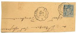 France 1896 Épinal A Jussey TPO Postmark On Piece W/ Scott 92 - Postmark Collection (Covers)