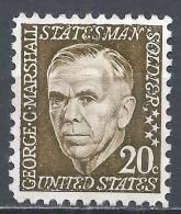 United States 1965. Scott #1289 (M) George Catlet Marshall * - Etats-Unis