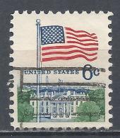 United States 1968. Scott #1338 (U) Flag And White House * - Etats-Unis