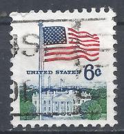 United States 1970. Scott #1338D (U) Flag And White House * - Etats-Unis