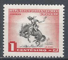 Uruguay  1954. Scott #606 (M) Horse Breaking * - Uruguay