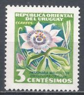 Uruguay 1954. Scott #608 (M) Passion Flower * - Uruguay
