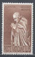 Vatican City 1958. Scott #243 (M) Statue Of Pope Clement XIII * - Vatican