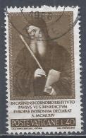 Vatican City 1965. Scott #414 (U) St Benedict By Perugino * - Vatican