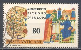 Vatican City 1980. Scott #668 (U) Abbot Desiderius Giving Codex To St. Benedict * - Gebruikt