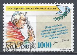 Vatican City 1993. Scott #937 (U) Travels Of Pope John Paul II, Angola, St. Thomas And Prince * - Vatican