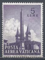 Vatican City 1959. Scott #C35 (M) Obelisk Of St. John Lateran * - Poste Aérienne