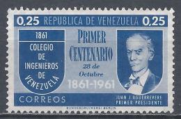 Venezuela 1961. Scott #801 (M) Juan J. Aguerrevere * - Venezuela