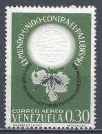 Venezuela 1962. Scott #C819 (MNH) WHO Drive To Eradicate Malaria * - Venezuela