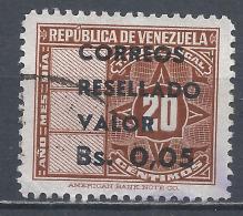 Venezuela 1965. Scott #877 (U) Revenue Stamps Surcharged * - Venezuela