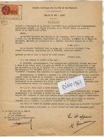 VP12.729 - MONTLUCON - Acte De 1959 - Entre La S.N.C.F Ligne De LUNERY à CHATEAUNEUF SUR CHER & La Société CALCISOL - Chemin De Fer