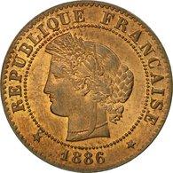 Monnaie, France, Cérès, Centime, 1886, Paris, SUP+, Bronze,KM 826.1, Gadoury:88 - A. 1 Centime