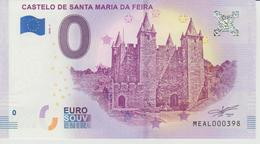 Billet Touristique 0 Euro Souvenir Portugal - Castelo De Santa Maria Da Feira 2018-1 N°MEAL000398 - Private Proofs / Unofficial