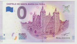 Billet Touristique 0 Euro Souvenir Portugal - Castelo De Santa Maria Da Feira 2018-1 N°MEAL000399 - Private Proofs / Unofficial