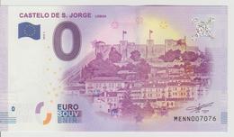Billet Touristique 0 Euro Souvenir Portugal - Castelo De S. Jorge Lisboa 2018-1 N°MENN007076 - Private Proofs / Unofficial
