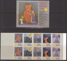 FINNLAND  Heftchen Mit 10 Joulu-Merkit, Jul/Weihnachtsmarken 1993 - Erinnophilie