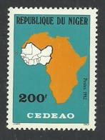 NIGER 1982 CEDEAO ECONOMIC COMMUNITY MAP SET MNH - Niger (1960-...)