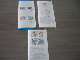 BELG.1985 2183 & 2184-85 & 2175-76 Zegels Met Eerstedag Stempel Op 3 NL Folders - FDC