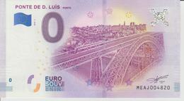 Billet Touristique 0 Euro Souvenir Portugal - Ponte De D. Luis Porto 2018-1 N°MEAJ004820 - Private Proofs / Unofficial