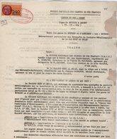 VP12.730 - PARIS - Acte De 1959 - Entre La S.N.C.F Ligne De BOURGES à ARGENT X ASNIERES & La Sté HUET & BRIAU à TOURS - Chemin De Fer
