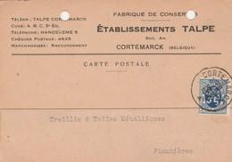 Kortemark , Cortemarck , Carte Publicité , établissement TALPE , Fabrique De Conserve - Kortemark