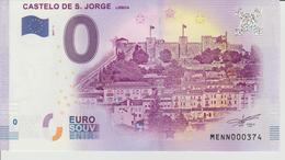 Billet Touristique 0 Euro Souvenir Portugal - Castello De S. Jorge Liboa 2017-1 N°MENN000374 - Private Proofs / Unofficial