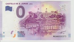 Billet Touristique 0 Euro Souvenir Portugal - Castello De S. Jorge Liboa 2017-1 N°MENN000375 - Private Proofs / Unofficial