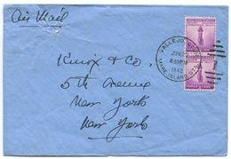 United States 1942 Airmail Cover Vallejo, California - Mare Island Station - Brieven En Documenten