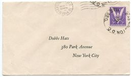 United States 1944 Cover Washington, D.C. To NYC, Unusual Postmarks - Brieven En Documenten
