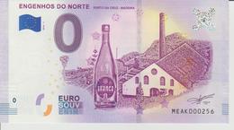 Billet Touristique 0 Euro Souvenir Portugal - Engenhos Do Norte 2018-1 N°MEAK000256 - Private Proofs / Unofficial