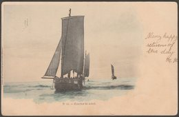 Coucher De Soleil, Barques, Bateaux, 1903 - Geo-Guillaume U/B CPA - Sailing Vessels