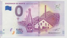 Billet Touristique 0 Euro Souvenir Portugal - Engenhos Do Norte 2018-1 N°MEAK000257 - Private Proofs / Unofficial